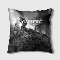 Подушка квадратная Black Veil Brides: Faithless цвета 3D-принт — фото 1