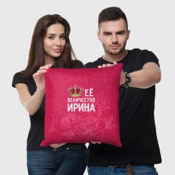 Подушка квадратная Её величество Ирина цвета 3D — фото 2