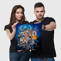 Подушка квадратная Iron Maiden: Skeletons цвета 3D — фото 2