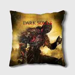 Подушка квадратная Dark Souls: Braveheart цвета 3D-принт — фото 1