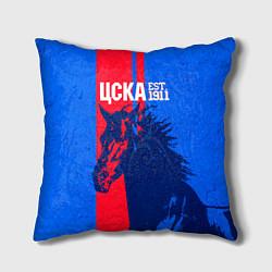Подушка квадратная ЦСКА ФК цвета 3D — фото 1