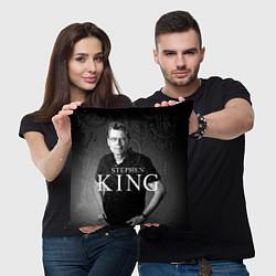 Подушка квадратная Стивен Кинг цвета 3D-принт — фото 2