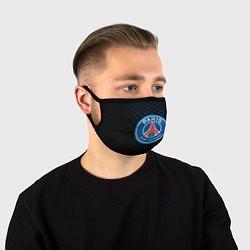 Маска для лица FC PSG: Blue Lines цвета 3D-принт — фото 1