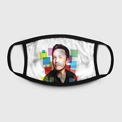 Маска для лица Илон Маск цвета 3D — фото 2