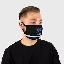 Маска для лица Сент-Луис Блюз цвета 3D-принт — фото 1