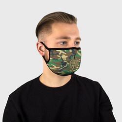 Маска для лица Пограничные Войска цвета 3D-принт — фото 1