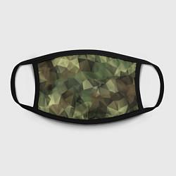 Маска для лица Полигональный камуфляж цвета 3D-принт — фото 2