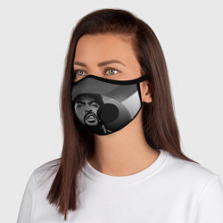 Маска с клапаном Ice Cube: Gangsta цвета 3D-черный — фото 1