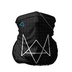 Бандана-труба Watch Dogs 2: Tech Geometry цвета 3D — фото 1