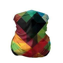 Бандана-труба Цветные кубики цвета 3D — фото 1