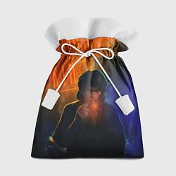 Мешок для подарков Виктор Цой в ночи цвета 3D — фото 1