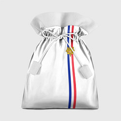 Мешок для подарков Франция: лента с гербом цвета 3D — фото 1