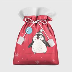 Мешок для подарков Влюбленная пингвинка цвета 3D — фото 1