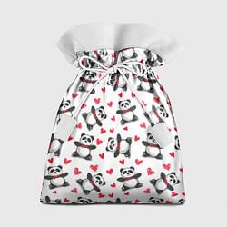 Мешок для подарков Любимые панды цвета 3D-принт — фото 1