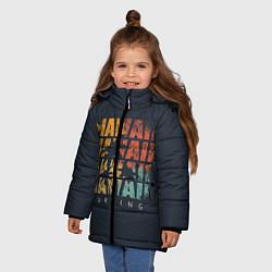 Куртка зимняя для девочки Hawaii Surfing цвета 3D-черный — фото 2