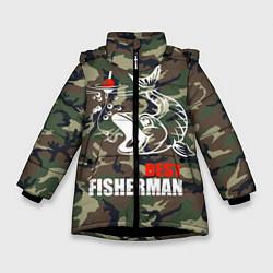 Куртка зимняя для девочки Best fisherman цвета 3D-черный — фото 1