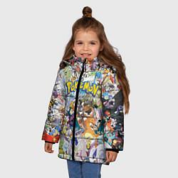 Куртка зимняя для девочки Покемоны цвета 3D-черный — фото 2