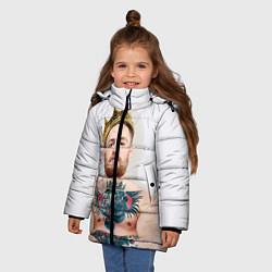 Детская зимняя куртка для девочки с принтом Макгрегор король, цвет: 3D-черный, артикул: 10102375706065 — фото 2