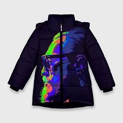 Детская зимняя куртка для девочки с принтом McGregor Neon, цвет: 3D-черный, артикул: 10102380506065 — фото 1