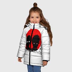 Куртка зимняя для девочки Saitama & Genos цвета 3D-черный — фото 2