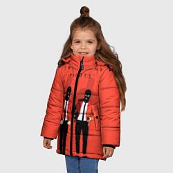 Куртка зимняя для девочки Twenty One Pilots цвета 3D-черный — фото 2