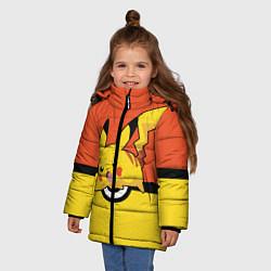 Куртка зимняя для девочки Pikachu цвета 3D-черный — фото 2