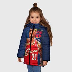 Куртка зимняя для девочки LeBron 23: Cleveland цвета 3D-черный — фото 2