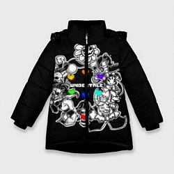 Куртка зимняя для девочки Undertale 2 цвета 3D-черный — фото 1