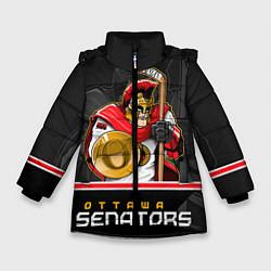 Куртка зимняя для девочки Ottawa Senators цвета 3D-черный — фото 1
