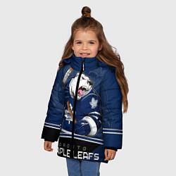 Куртка зимняя для девочки Toronto Maple Leafs цвета 3D-черный — фото 2