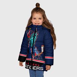 Куртка зимняя для девочки New York Rangers цвета 3D-черный — фото 2