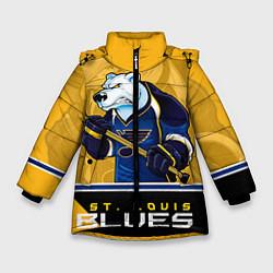 Куртка зимняя для девочки St. Louis Blues цвета 3D-черный — фото 1