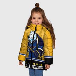 Куртка зимняя для девочки St. Louis Blues цвета 3D-черный — фото 2