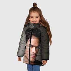 Куртка зимняя для девочки Ian Somerhalder цвета 3D-черный — фото 2