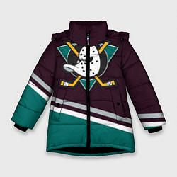 Куртка зимняя для девочки Anaheim Ducks цвета 3D-черный — фото 1