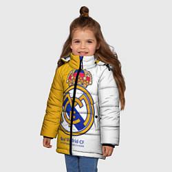 Куртка зимняя для девочки Real Madrid CF цвета 3D-черный — фото 2