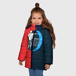Куртка зимняя для девочки Biathlon worldcup цвета 3D-черный — фото 2
