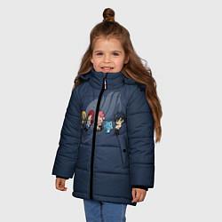 Куртка зимняя для девочки Хвост Феи цвета 3D-черный — фото 2