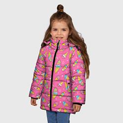 Куртка зимняя для девочки Мороженка цвета 3D-черный — фото 2