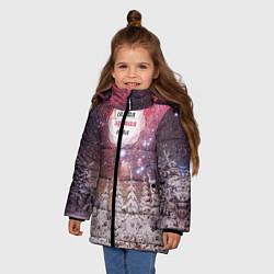 Куртка зимняя для девочки Лучшей тетё цвета 3D-черный — фото 2