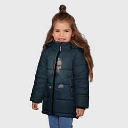 Куртка зимняя для девочки Доктор в рубашке цвета 3D-черный — фото 2