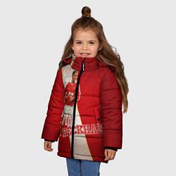 Куртка зимняя для девочки David Backham цвета 3D-черный — фото 2