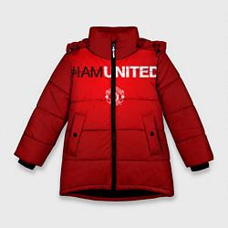 Куртка зимняя для девочки I am United цвета 3D-черный — фото 1