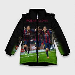 Куртка зимняя для девочки Barcelona6 цвета 3D-черный — фото 1