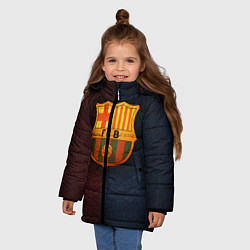 Куртка зимняя для девочки Barcelona8 цвета 3D-черный — фото 2
