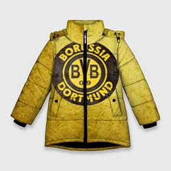 Куртка зимняя для девочки Borussia3 цвета 3D-черный — фото 1