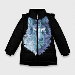 Куртка зимняя для девочки Седой волк цвета 3D-черный — фото 1