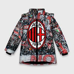 Куртка зимняя для девочки Milan FC цвета 3D-черный — фото 1