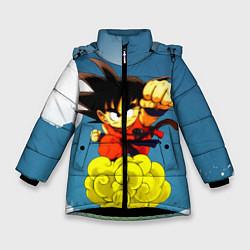 Куртка зимняя для девочки Small Goku цвета 3D-черный — фото 1