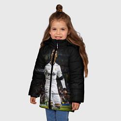 Куртка зимняя для девочки Роналдо цвета 3D-черный — фото 2